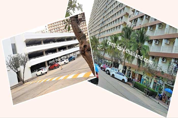 Jomtien Beach Condo Undercover Parking and Shops