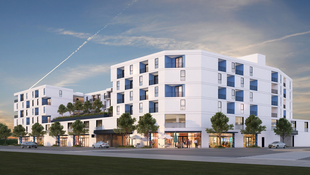 - INCLUSIVE OF 13 UNITS SET ASIDE FOR VERY LOW INCOME TENANTS  - 2ND STORY OUTDOOR COURTYARD FOR RESIDENTS  - GROUND FLOOR COMMERCIAL SPACE REINVIGORATING HISTORIC WEST ADAMS CORRIDOR