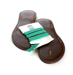 TOJ Sandals - We love TOJ sandals because you have complete freedom to wear them how you'd like. They're incredibly comfortable and perfect for a long walk on the beach. Choose your leather style and color strap to match your fave summer suit!
