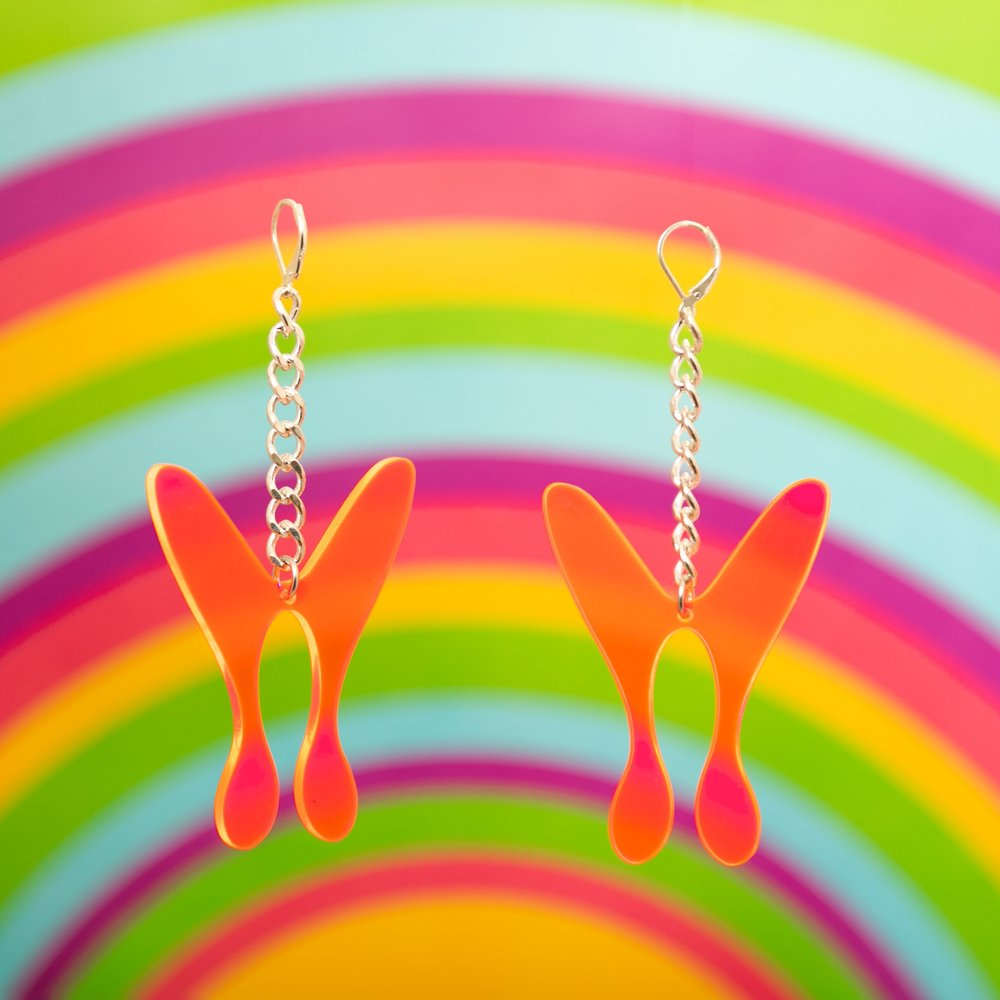 MindFlowers_Butterfly_Fluoresecent_Pink_Chain_Earrings_1024x1024@2x.jpg
