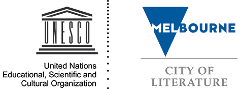 The UNESCO logo, and the Melbourne City of Literature logo.