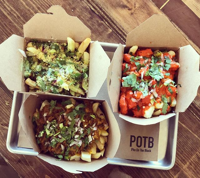 "WOULD YOU LIKE SOME FRIES WITH THAT?? Our signature poutine special is on tomorrow along with our Signature Craft Cocktail menu. First 15 customers will get free champagne. Come celebrate our anniversary enjoying good food, cocktails along with our live DJ ""Just Alexander "" dropping mad beats! #butterchickenpoutine #chatpoutine #chanamasalapoutine #potb #potbkzoo #phoontheblock #fries #anniversaryparty #goodfood #celebrations #craftcocktails #madefromscratch #organic #local #yelpkzoo #discoverkzoo #wmu #kcollege #hip #trendy #urban"