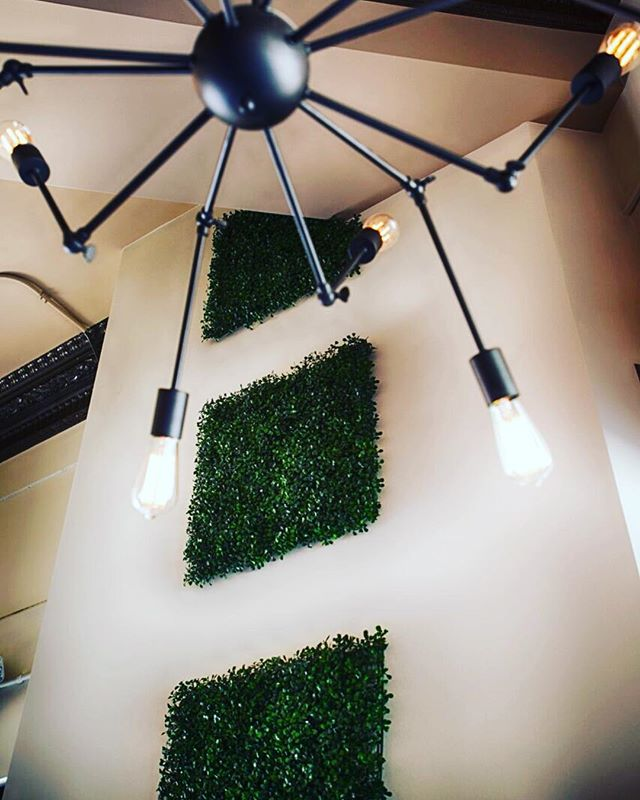 It's all in the details.. #pho #potb #potbkzoo #phoontheblock #details #interiordesign #decor #moderndecor #green #topiary #urban #trendy #ambiance #kalamazoo