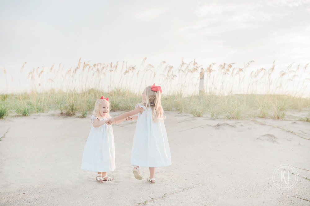 Katherine Ives Photography Family Siblings session tybee beach GA