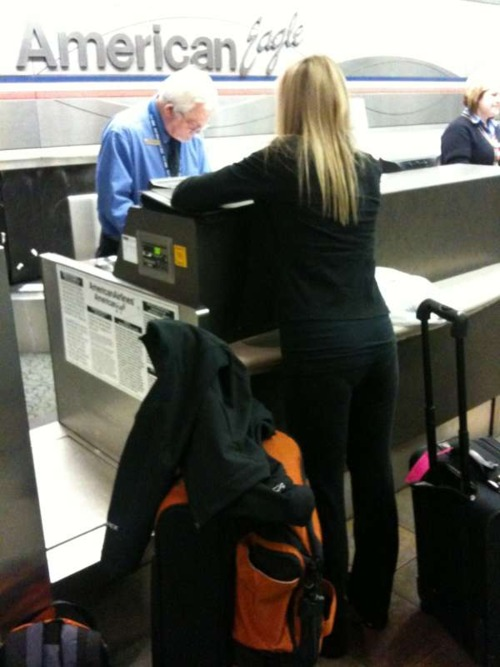 Checking in...agent was so happy about hearing why we were going.