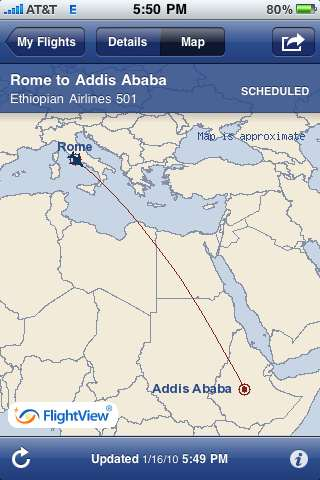 Addis is 9 hours ahead of NWA