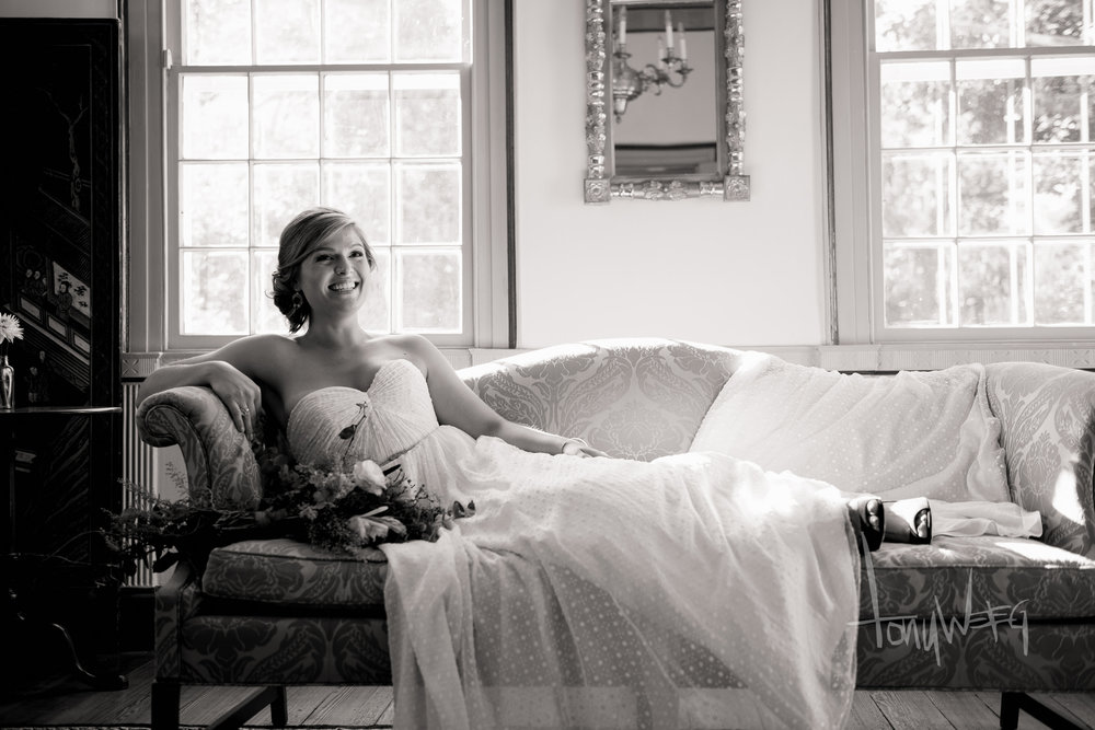 Dana Fields (Woods) lounging at Poplar Hill Mansion in Historic Downtown Salisbury's Newtown District!