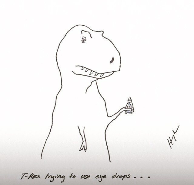 Dry eye is already no fun but we can help!#t-rexproblems#albertaclimate#eyes