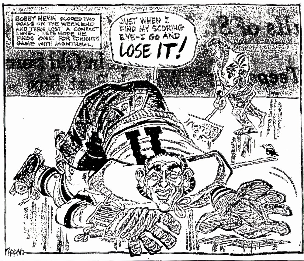 A cartoon that appeared in the Toronto Daily Star the following day, 1962.