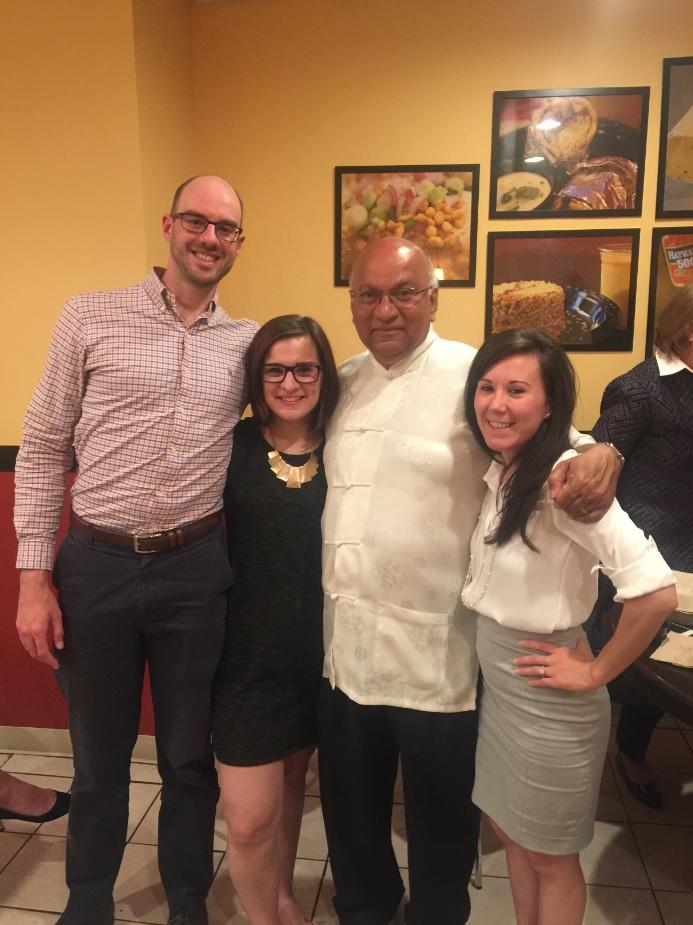 From the left: Jake Voorhees, Laurie Zerumsky, Ajit George (TEDx-Wilmington founder), Rhianon Husmann