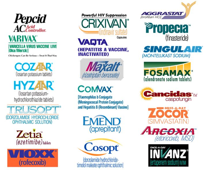 Merck & Co brands