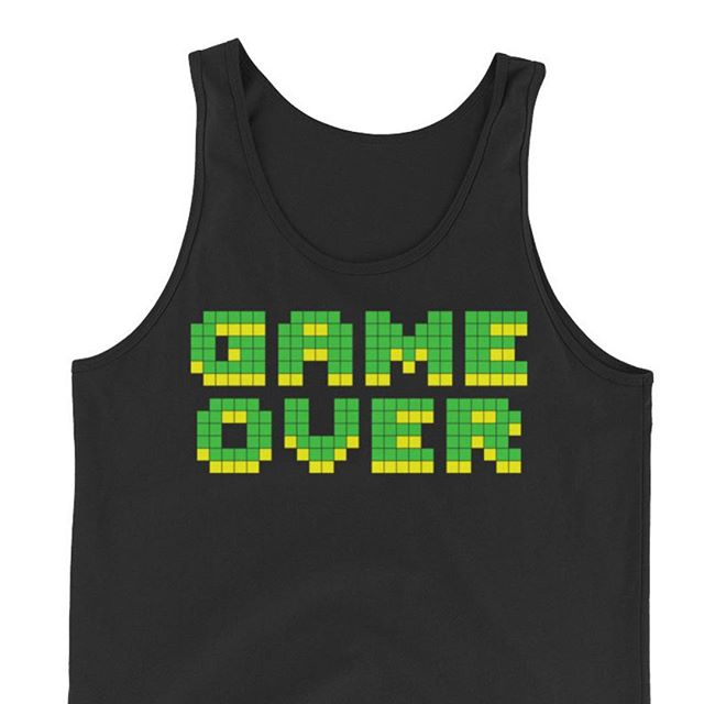 #gameover #retro #gaming #tanktop #sunsoutgunsout #nintendo #forsale www.inktale.com/showoffbrand @inktalecom