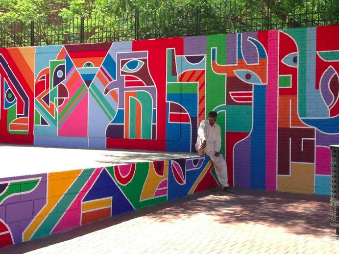 Mural created with the Ajuntament de Barcelona and Casa Infantil in El Raval by Erbmonart