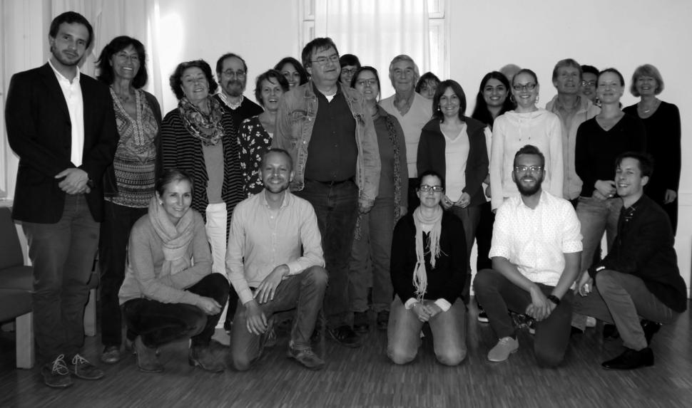 Das Team der Anhörungsbegleiter/innen bei der Ausbildung im Mai 2015