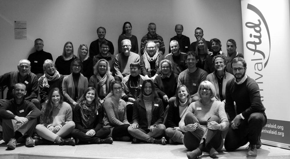Das Team der Anhörungsbegleiter/innen bei der Ausbildung im November 2015