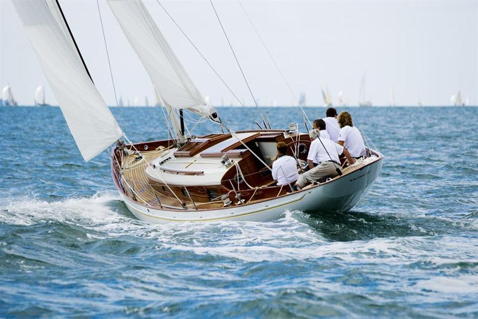 Fairlie 55 Solent sail trials