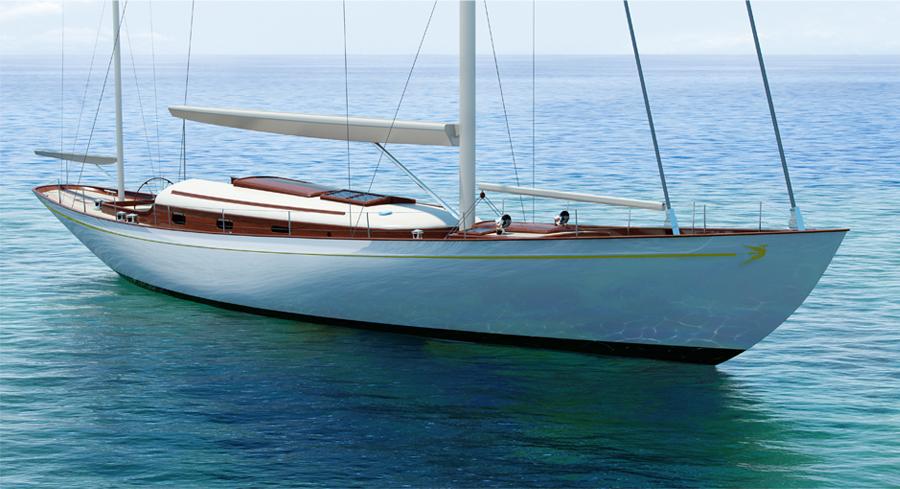 Fairlie 77 modern classic yacht