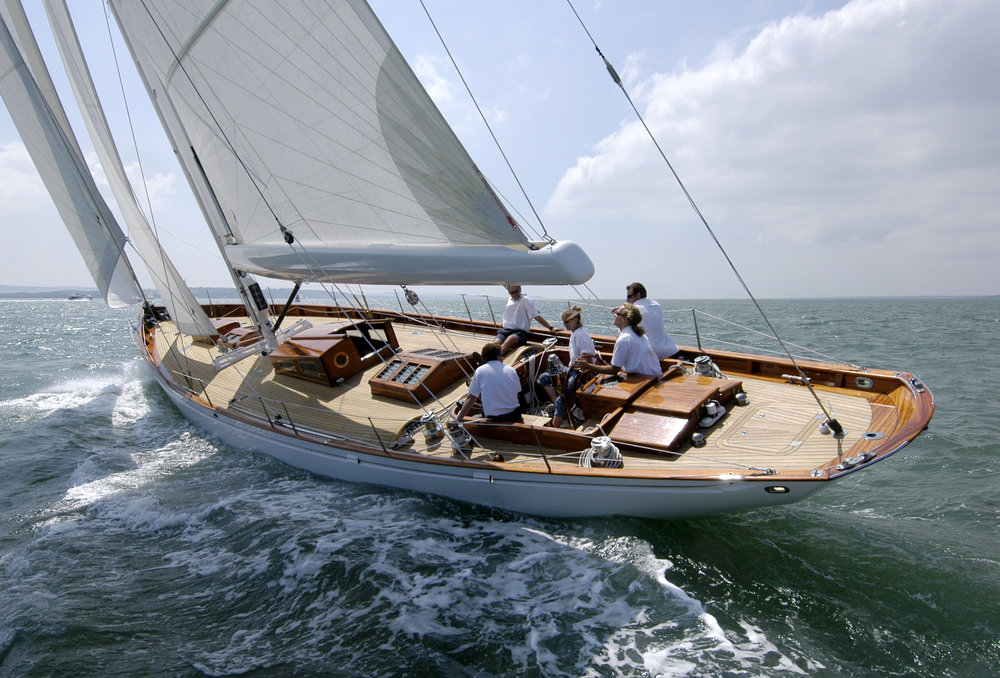 Fairlie 59 traditional long keel modern classic yacht