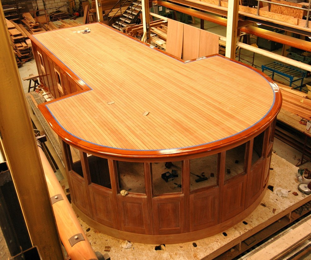 Nahlin's wheelhouse nears completion