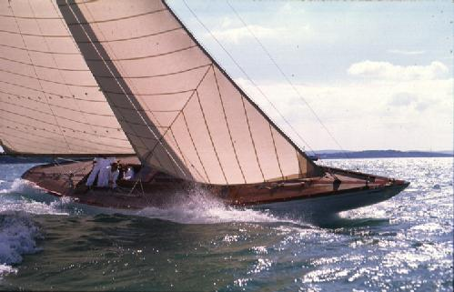 The Fife designed 8M on sail trials