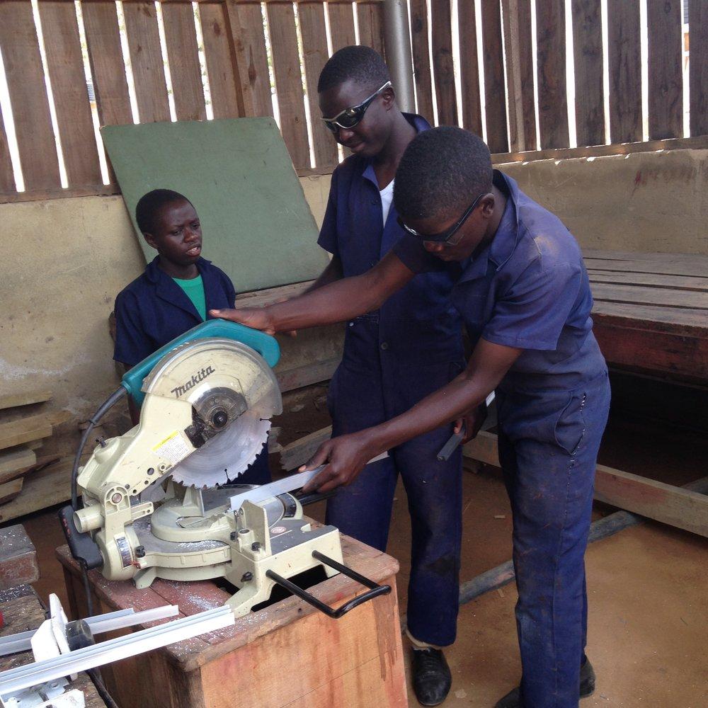 VTC Carpentary students.JPG