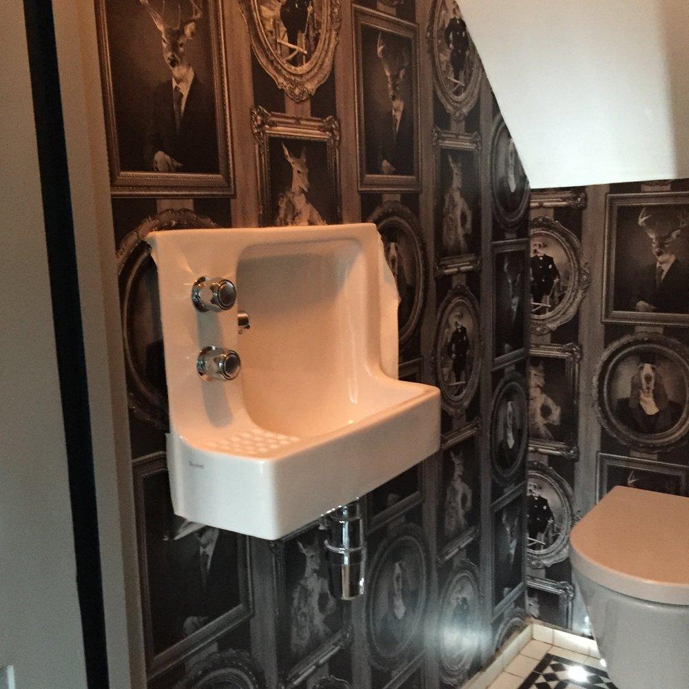 New downstairs bathroom detail