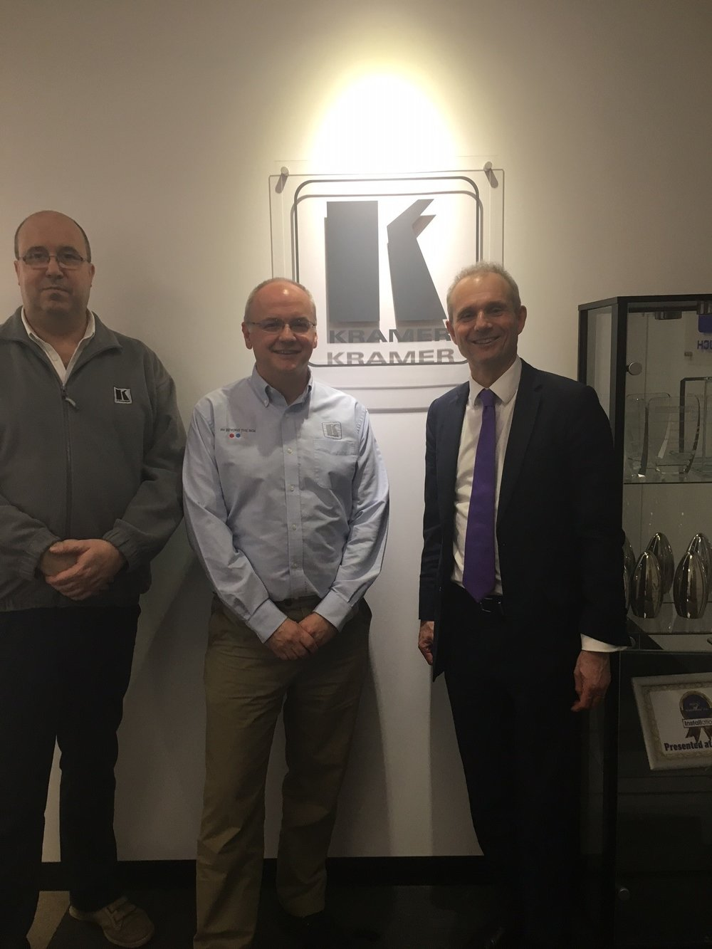 David meeting National Sales Manager Andrew Smith and Marketing Manager Nick Mawer