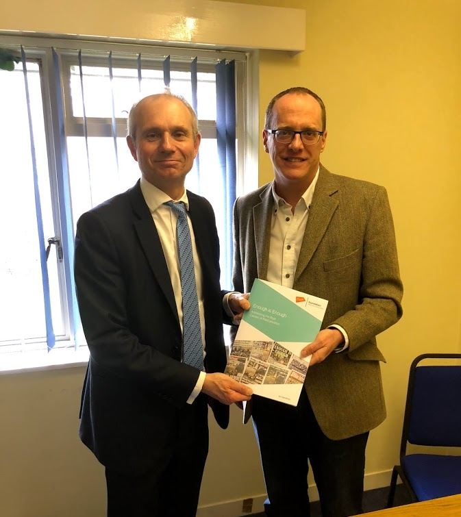 Meeting Ian Sansbury to discuss the Oasis Foundation ( www.oasis.foundation ), a community development charity and multi-academy trust working in 36 vulnerable inner-city neighbourhoods across the country.