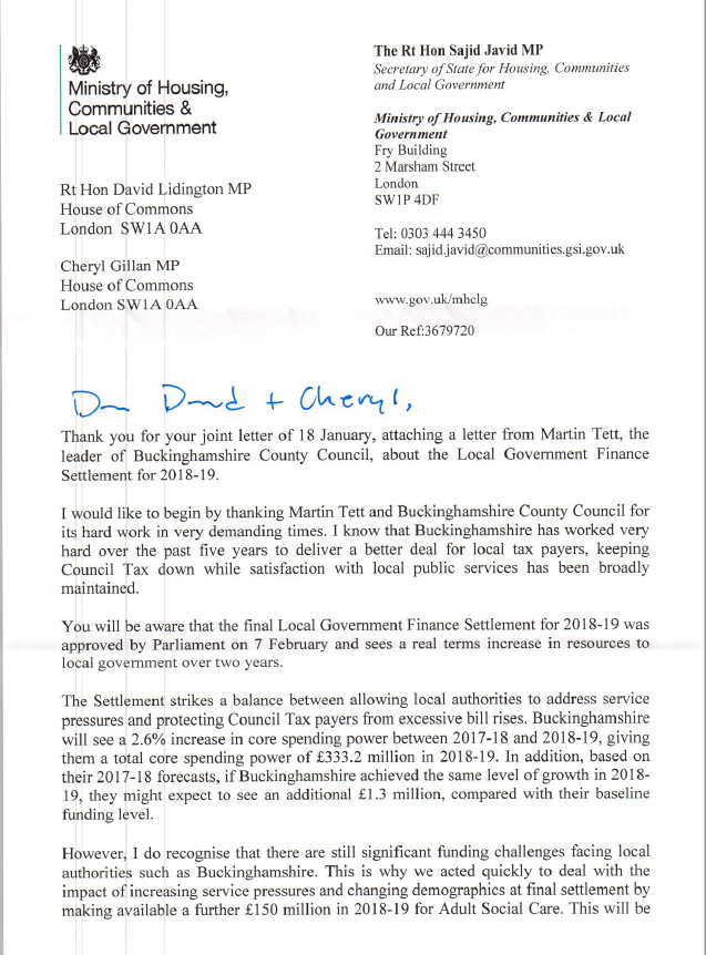 Letter from the ministry of housing communities local government letter from the ministry of housing communities local government david lidington expocarfo Choice Image