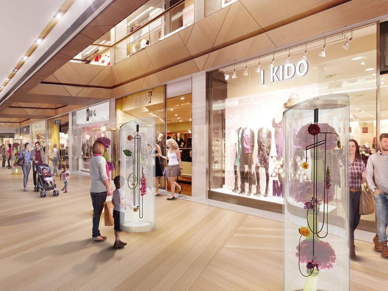 Graphic Bloom - Prague   Centrum Chodov.Commercial shopping centre, Public space