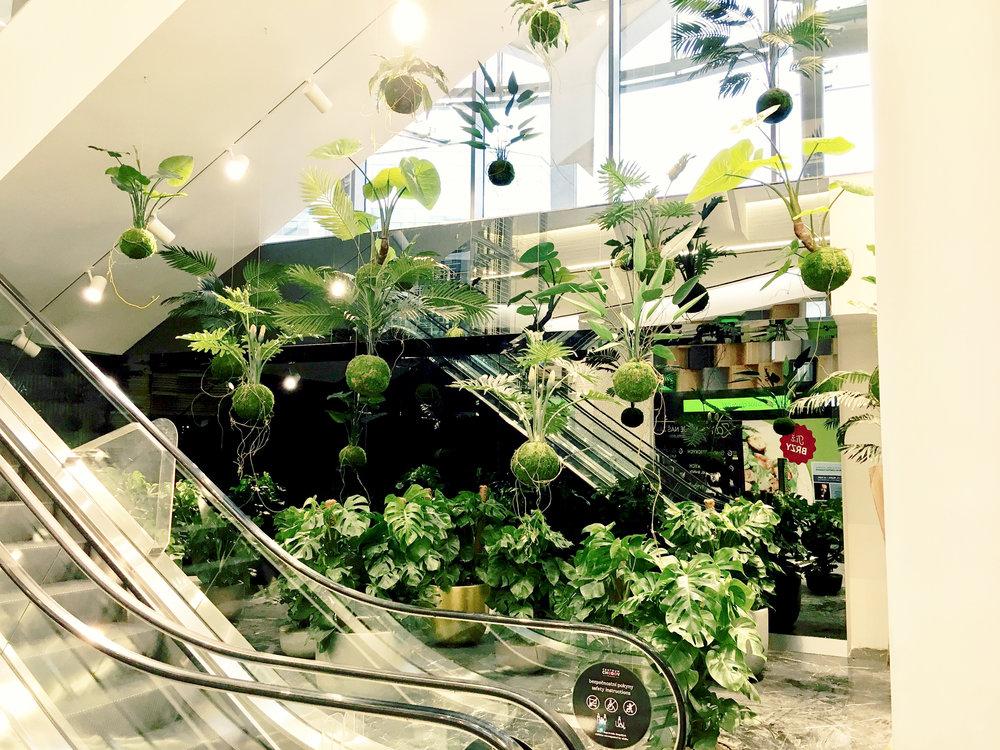 Floating Gardens - Prague  Centrum Chodov.Commercial shopping centre, Public space