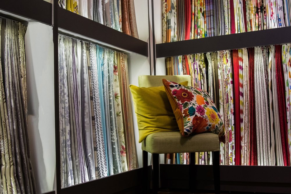 Fabrics From off the roll fabrics to exclusive designer fabrics and wallpaper, the Drapery Shop in Cork City caters for all fabrics tastes and budgets. Our friendly and knowledgeable staff will guide you through our extensive range.