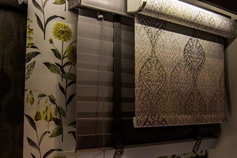 Blinds & Automatic Blinds Roman blinds fit perfectly on all doors, including French doors unlike a classic roller shade blind which can be installed but fitted with a modern twist. The blinds we offer can be Vertical, Pleated, Venetian, Aluminium or Roman.