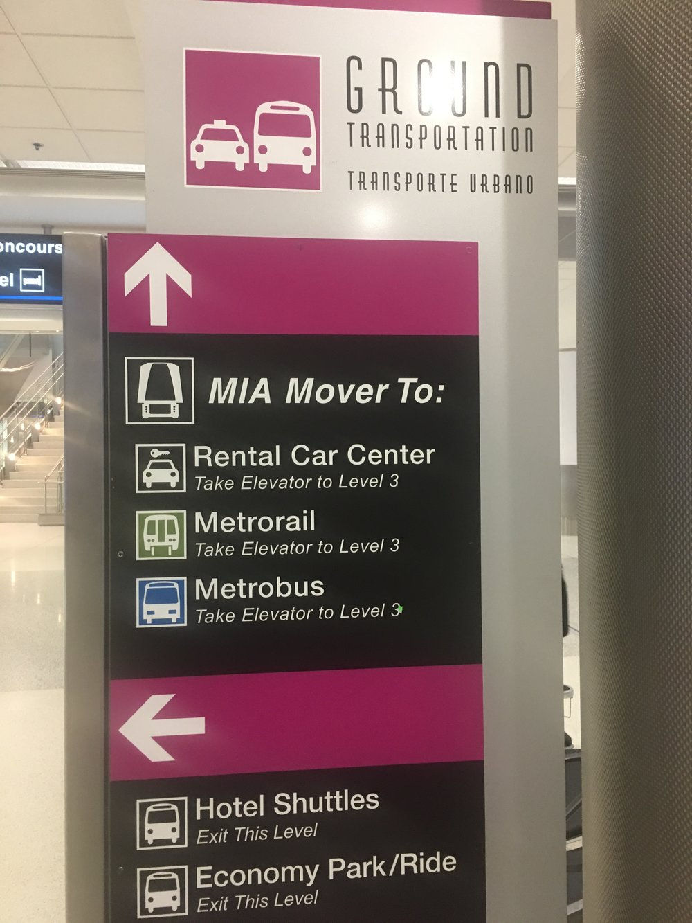 sign to MIA mover in MIA airport