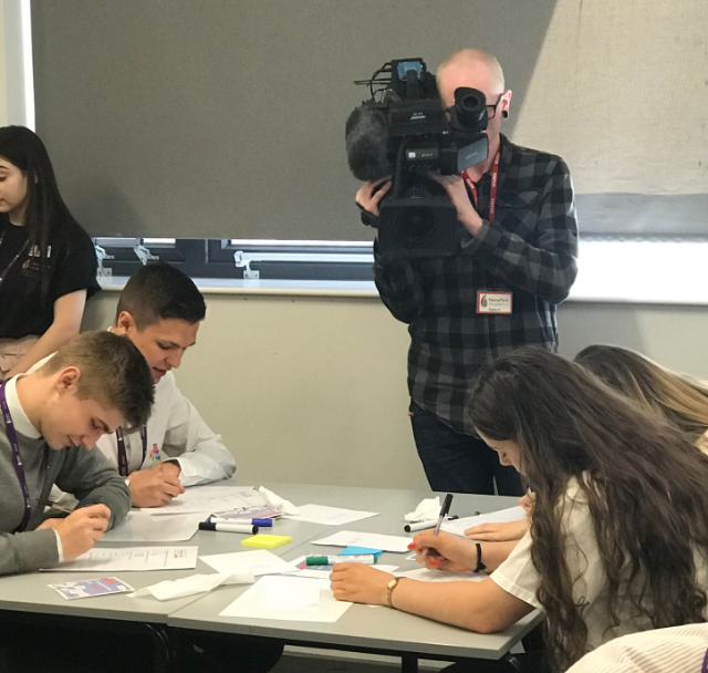 BBC cameraman films students taking a 'stressors quiz'