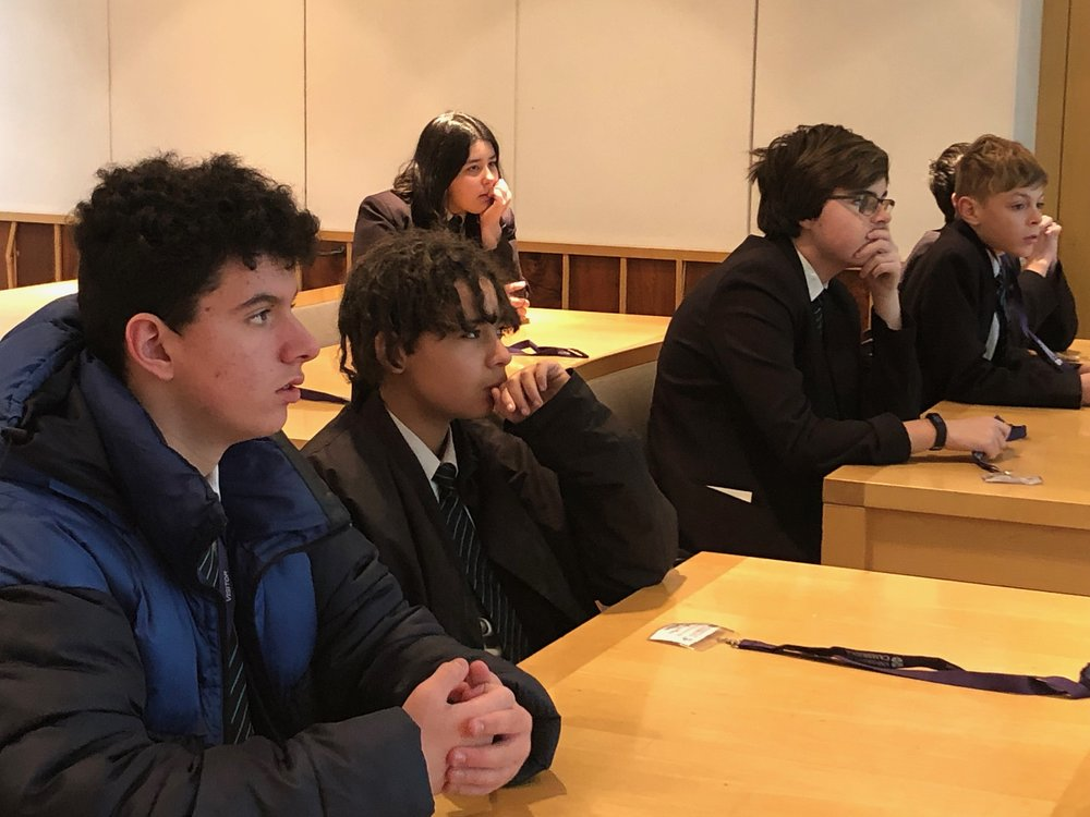 Students from Caister Academy, Great Yarmouth, at Pembroke College, University of Cambridge