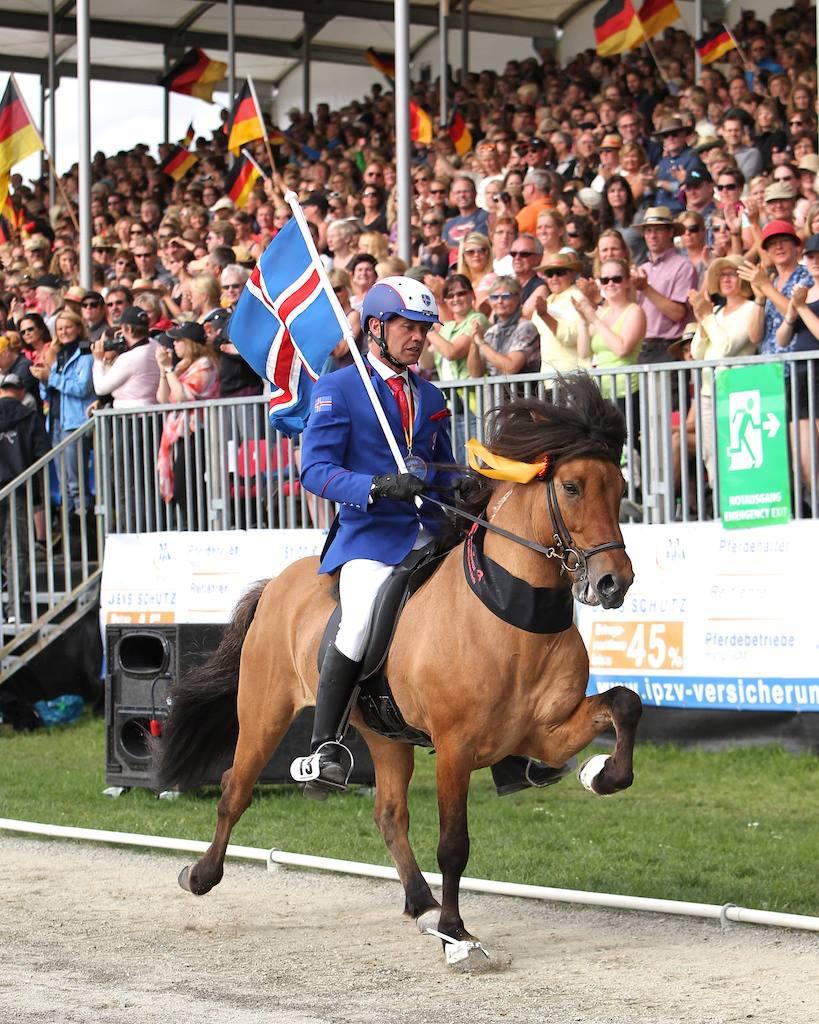 Hnokki frá Fellskoti og Johann R. Skulason vinder VM T.1, Berlin 2013
