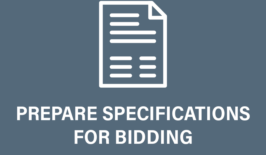 Design Development Specs for Bidding