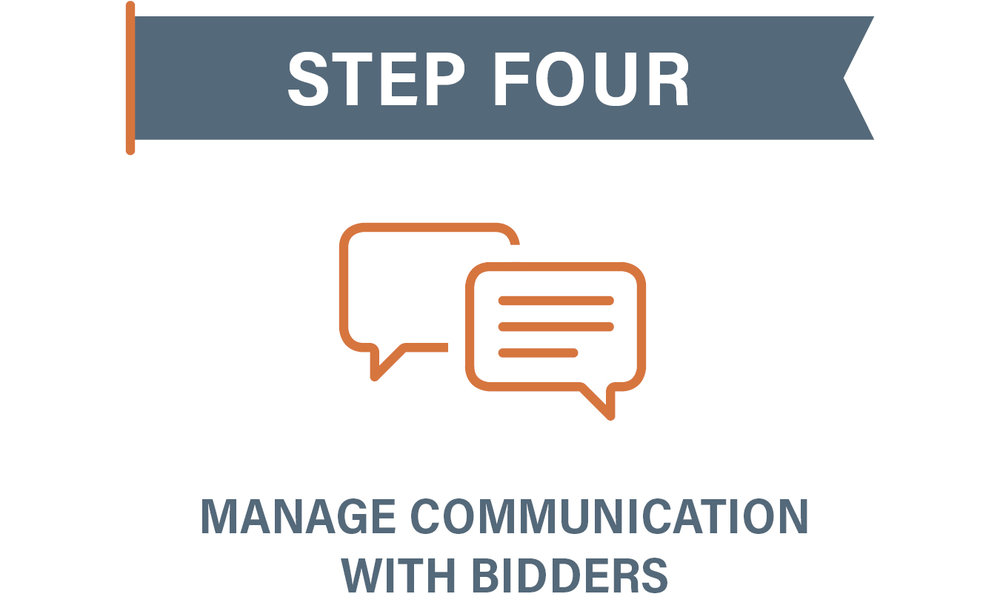 Step 4 Manage Communication with Bidders