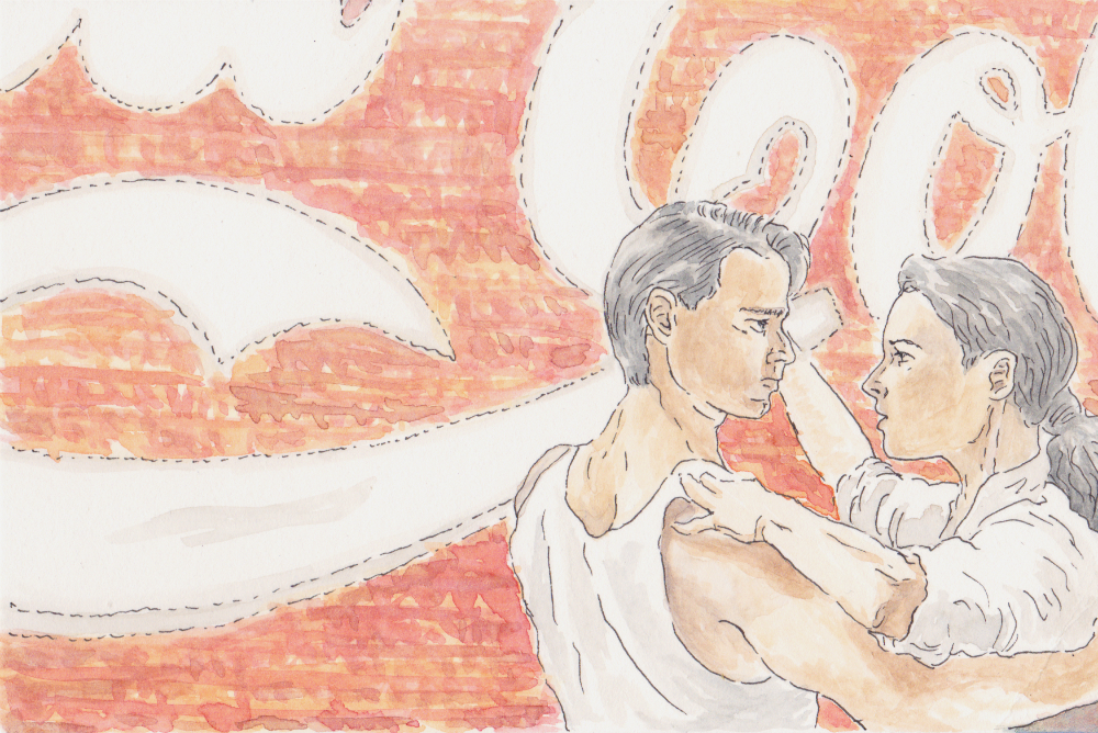 Strictly Ballroom (Watercolor and pen, 2017)