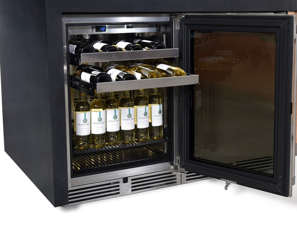 Outdoor kitchen fridge & wine chiller