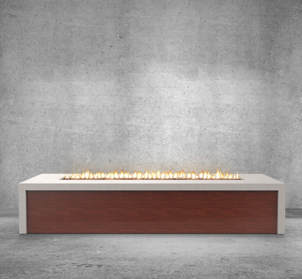 A Sleek Narrow Fire Feature