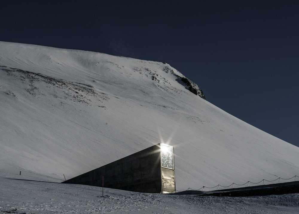 The entrance to the Global Seed Vault in Svalbard, Norway, 2016 © Jonas Bendiksen/Magnum Photos