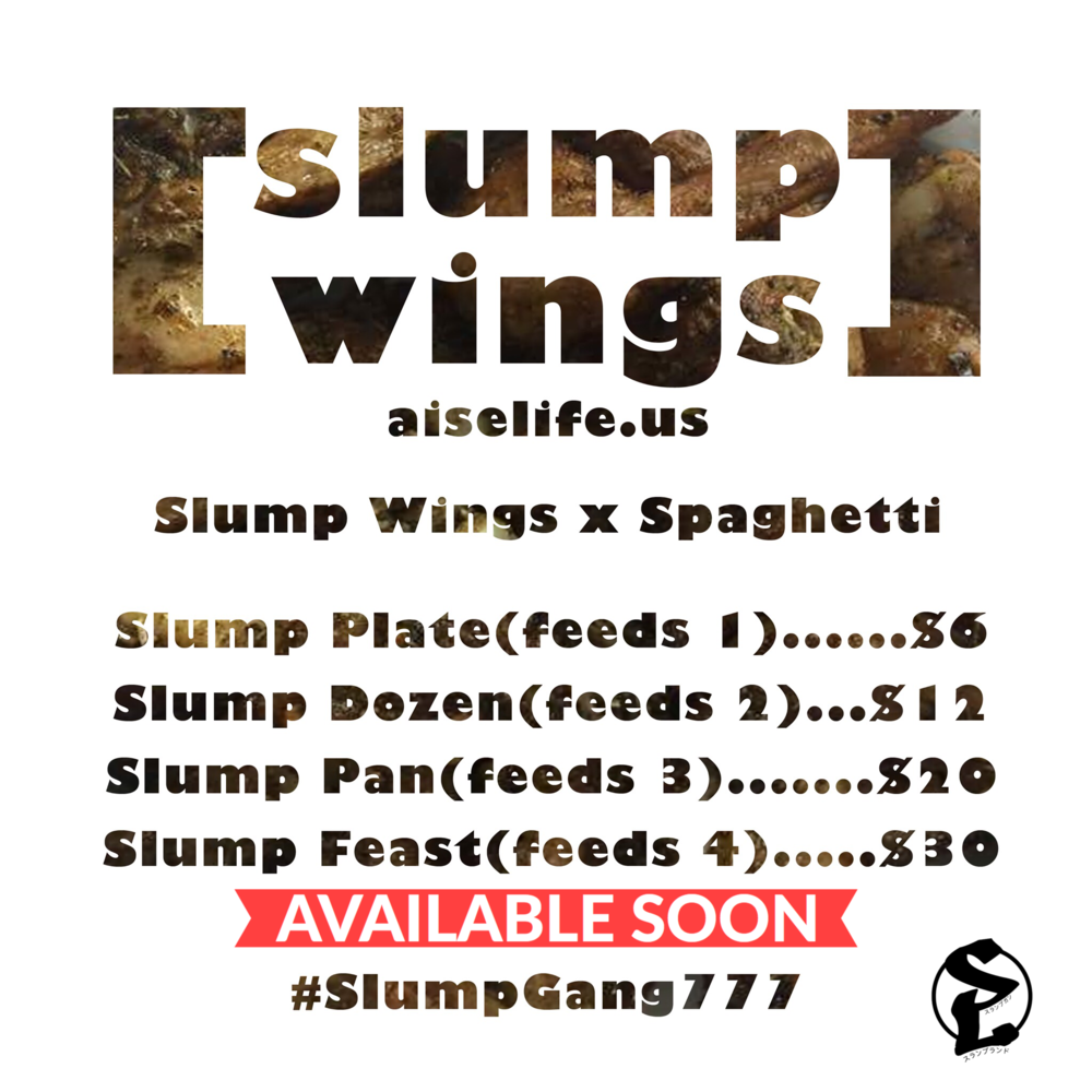 OFFICIAL SLUMP WINGS MENU created by: AiseLife