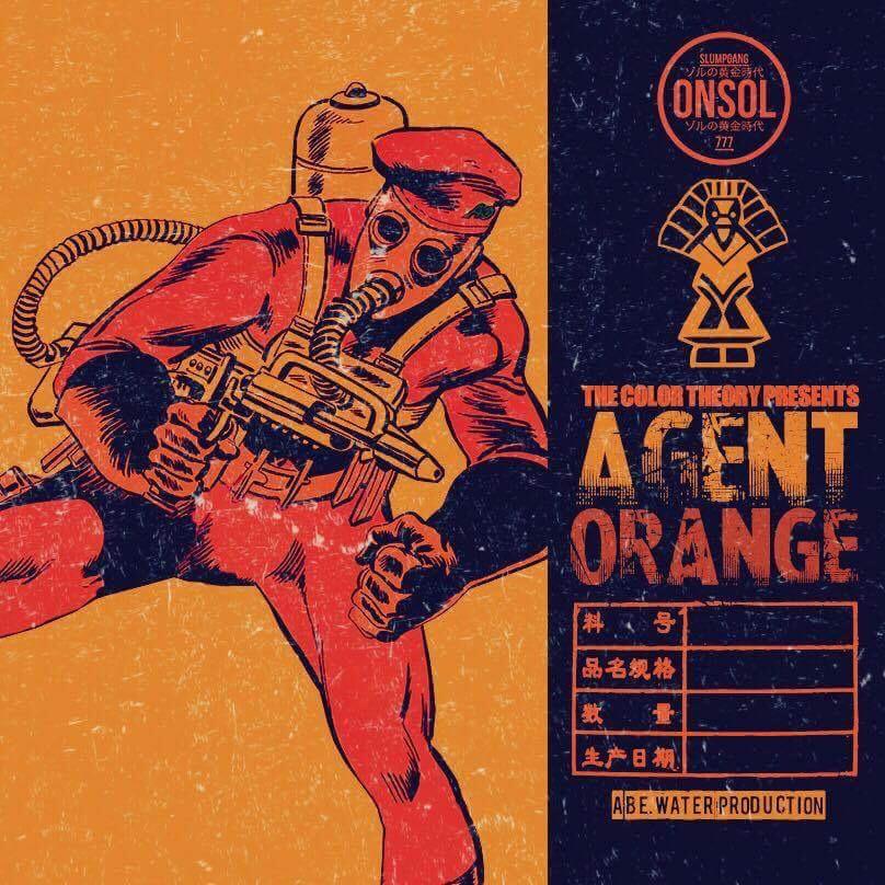 """AGENT Orange"" cover art by: orlando coolridge"