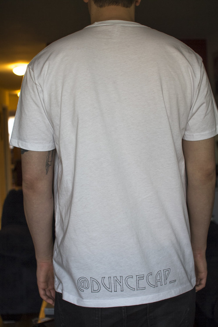 """Toid Up Tee"" Back View"