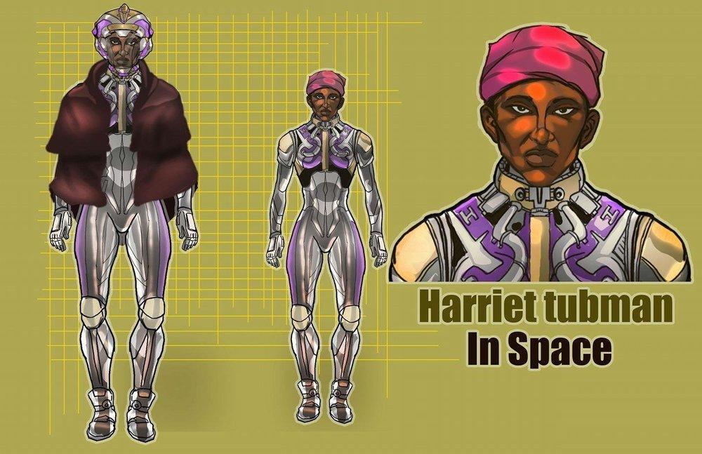 宇宙のHarriet Tubman // Artwork By: Glyph Sputnik