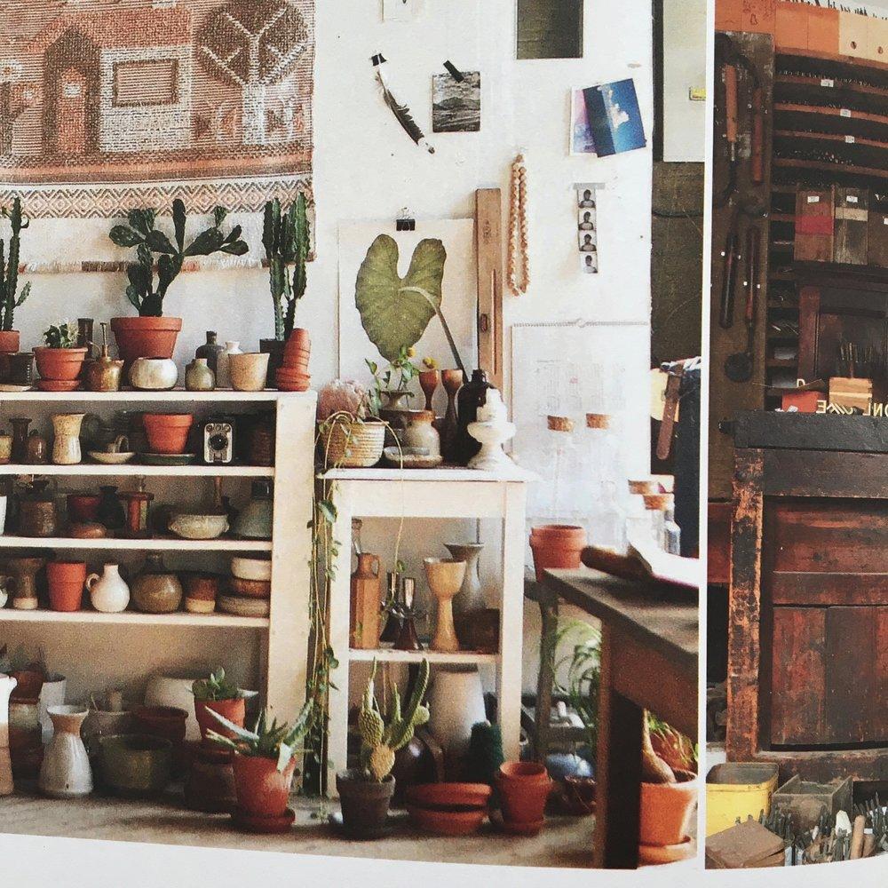 Cadence Hay's studio