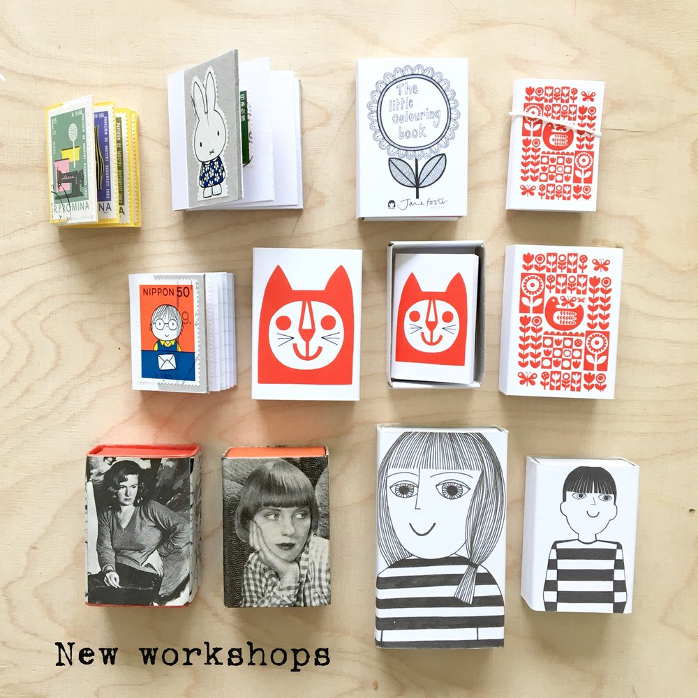 Some of my little matchboxes and handmade books.