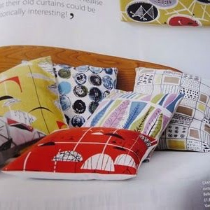 My Mid Century Modern cushions were featured in Homes and Antiques.